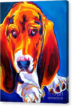 Basset - Ears Canvas Print by Alicia VanNoy Call