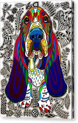 Basset Hound Canvas Print by Please Draw My Dog