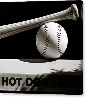 Bat And Ball Canvas Print by Dave Bowman