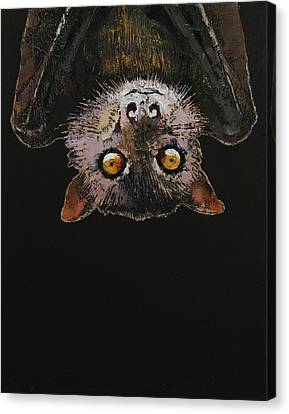 Bat Canvas Print by Michael Creese