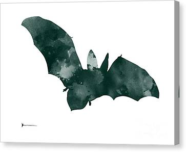 Bat Minimalist Watercolor Painting For Sale Canvas Print by Joanna Szmerdt