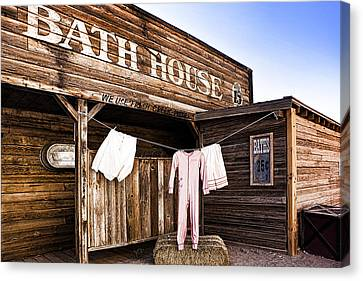 Bath House In Old Tucson Canvas Print by Wendy White
