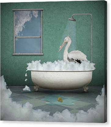 Bath Time Canvas Print by Ryoko Ryoko