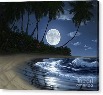Bathed In Moonlight Canvas Print by Al Hogue