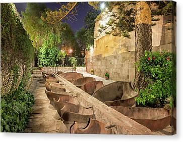 Bathing Area In Santa Catalina Monastery Canvas Print by Jess Kraft