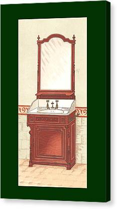 Bathroom Picture Wash Stand One Canvas Print by Eric Kempson