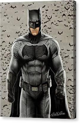 Batman Ben Affleck Canvas Print by David Dias