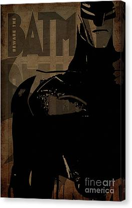 Batman Brown - Crack Brown  Canvas Print by Prar Kulasekara
