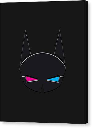 Batman In Mood To Watch 3d Canvas Print by Sandy