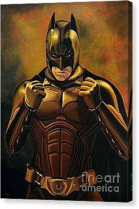 Batman The Dark Knight  Canvas Print by Paul Meijering