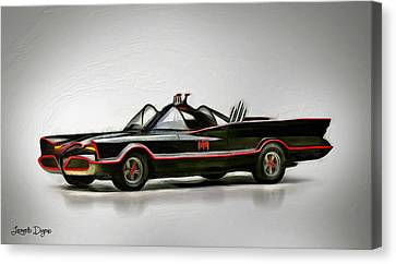 Batmobile - Da Canvas Print by Leonardo Digenio