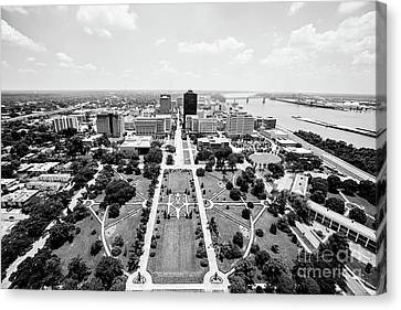 Baton Rouge From The State Capitol Canvas Print by Scott Pellegrin