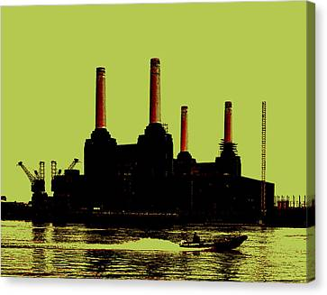 Battersea Power Station London Canvas Print by Jasna Buncic