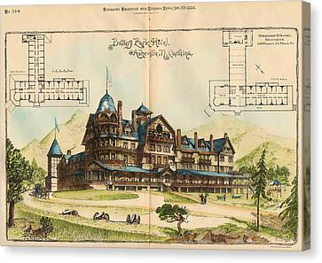 Battery Park Hotel. Asheville Nc. 1886 Canvas Print by Hazlehurst and Huckel