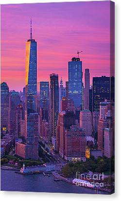 Battery Park Canvas Print by Inge Johnsson