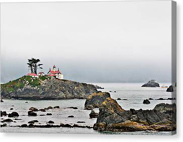 Battery Point Lighthouse California Canvas Print by Christine Till
