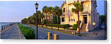 Battery Street Waterfront, Charleston Canvas Print by Panoramic Images