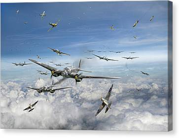 Battle Of Britain Day  Canvas Print by Gary Eason