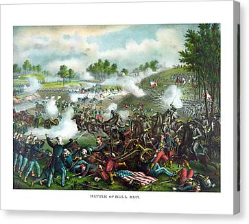 Battle Of Bull Run Canvas Print by War Is Hell Store