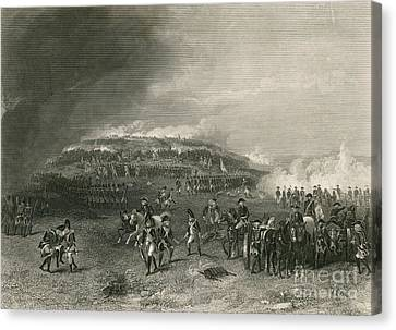 Battle Of Bunker Hill, 1775 Canvas Print by Photo Researchers
