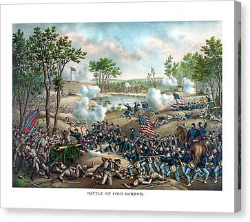 Battle Of Cold Harbor Canvas Print by War Is Hell Store
