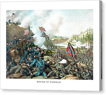 Battle Of Franklin - Civil War Canvas Print by War Is Hell Store