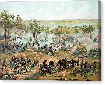 Battle Of Gettysburg Canvas Print by War Is Hell Store