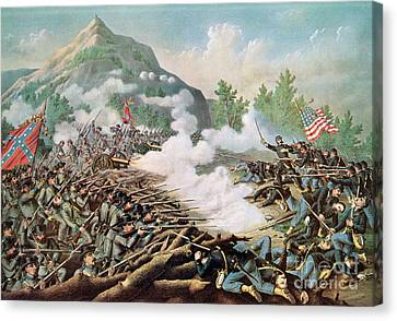 Battle Of Kenesaw Mountain Georgia 27th June 1864 Canvas Print by American School