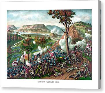 Battle Of Missionary Ridge Canvas Print by War Is Hell Store