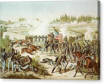 Battle Of Olustee Canvas Print by American School