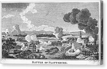 Battle Of Plattsburg, 1814 Canvas Print by Granger