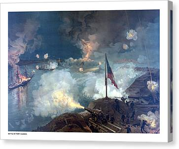Battle Of Port Hudson Canvas Print by War Is Hell Store