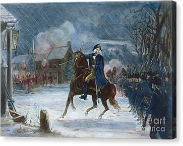 Battle Of Trenton, 1776 Canvas Print by Granger