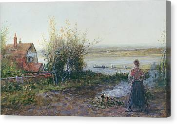 Bawdsey Ferry Canvas Print by George Henry Boughton