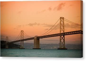 Bay Bridge Canvas Print by Mandy Wiltse