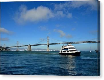 Bay Bridge Ship San Francisco Canvas Print by Andrew Dinh