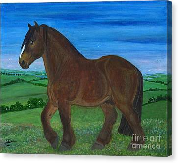 Bay Horse Canvas Print by Anna Folkartanna Maciejewska-Dyba