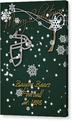 Baylor Bears Christmas Card 2 Canvas Print by Joe Hamilton