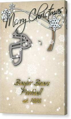 Baylor Bears Christmas Card Canvas Print by Joe Hamilton
