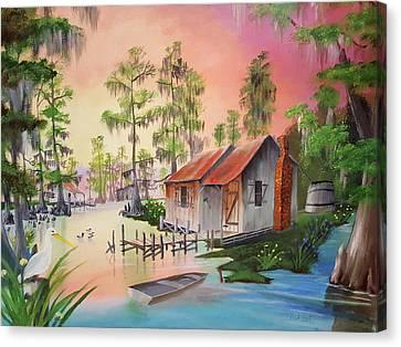 Bayou Blue Canvas Print by Nicolas Avet