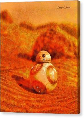 Bb-8 In The Desert - Da Canvas Print by Leonardo Digenio
