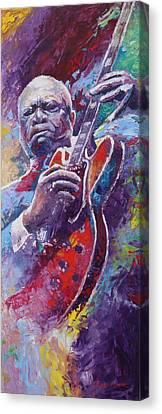 B.b.king 2 Canvas Print by Yuriy Shevchuk