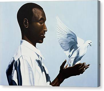 Be Free Three Canvas Print by Kaaria Mucherera
