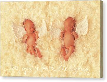 Be Gentle With The Young Canvas Print by Anne Geddes