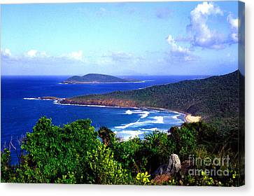Beach And Cayo Norte From Mount Resaca Canvas Print by Thomas R Fletcher