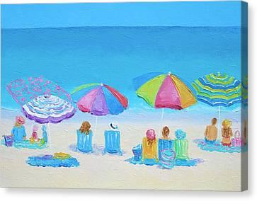 Beach Art - A Golden Day Canvas Print by Jan Matson