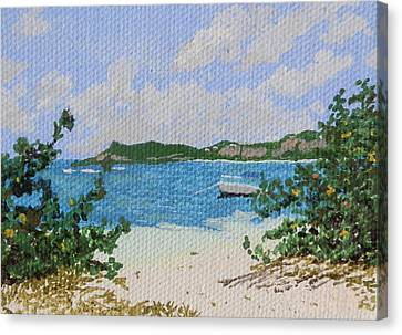 Beach At Le Galion Canvas Print by Margaret Brooks