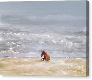 Beach Baby Canvas Print by Lois Bryan
