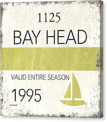 Beach Badge Bay Head Canvas Print by Debbie DeWitt