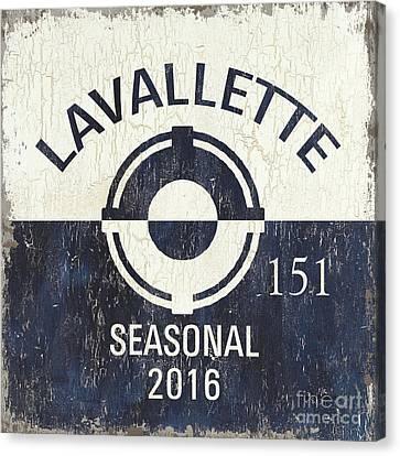 Beach Badge Lavalette Canvas Print by Debbie DeWitt